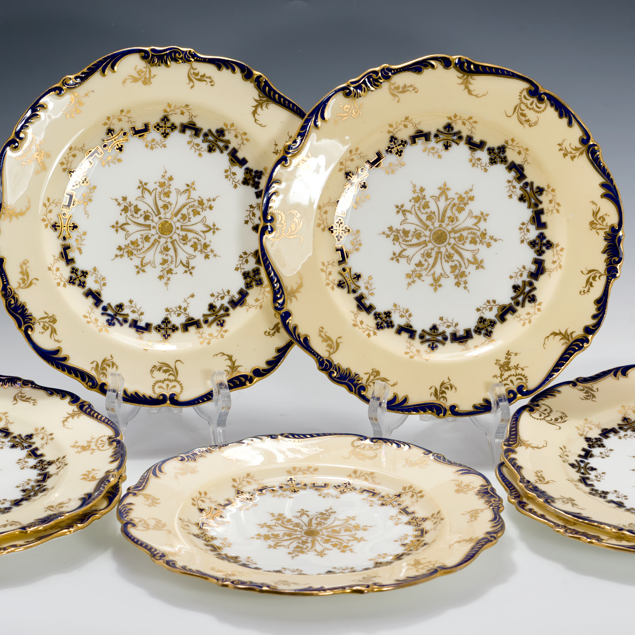 antique coalport pat 7173 fine bone china 7 accent dessert plates ebay. Black Bedroom Furniture Sets. Home Design Ideas