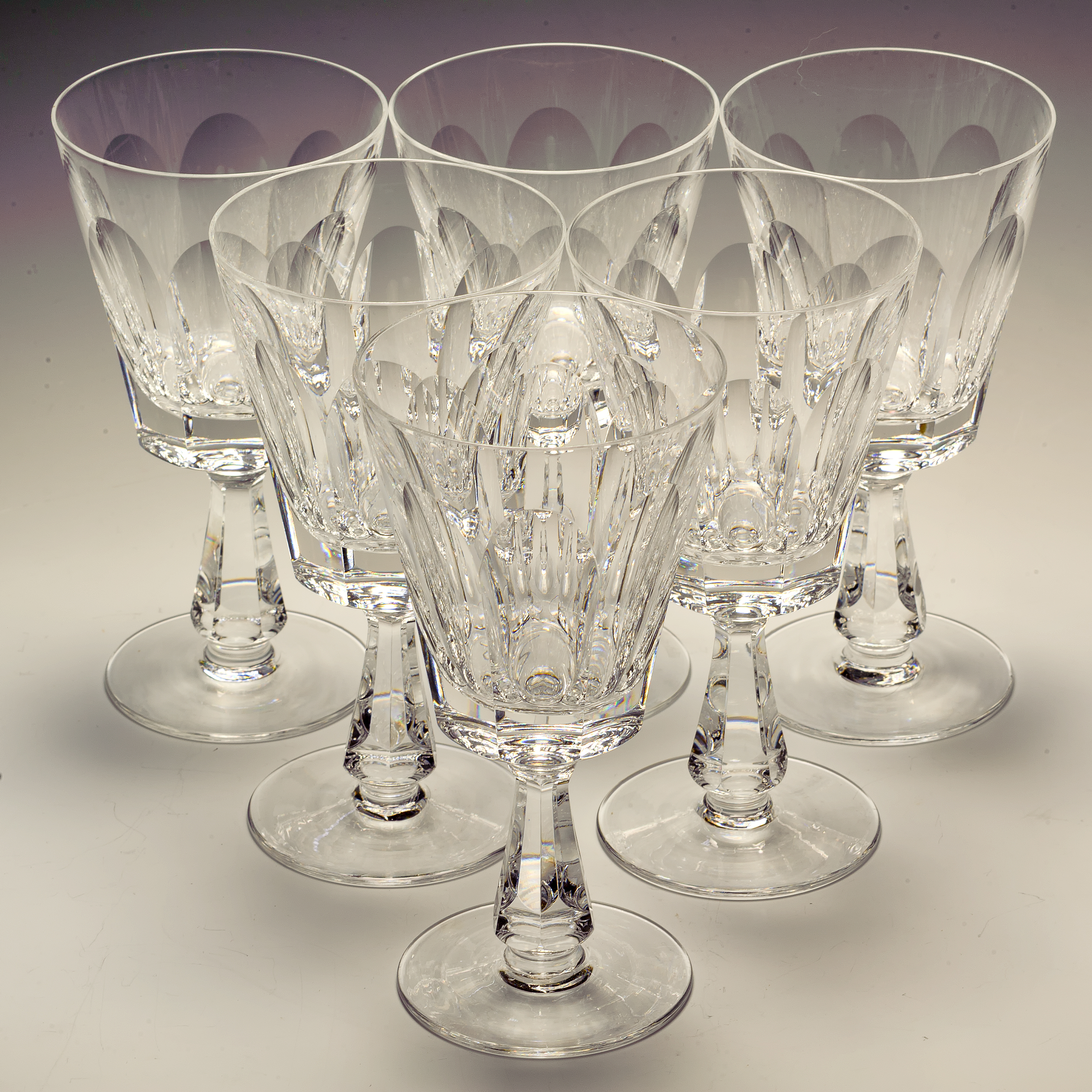 Waterford Crystal Glencree Six Large Wine / Water Goblets Firsts Signed | eBay